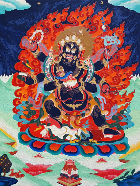 6 Armed Mahakala, Dhamra Protector of the Small Scope of the Lamrim gelug emanation chenrezig avalokitashvara supramundane protector large scope great scope, vajapani