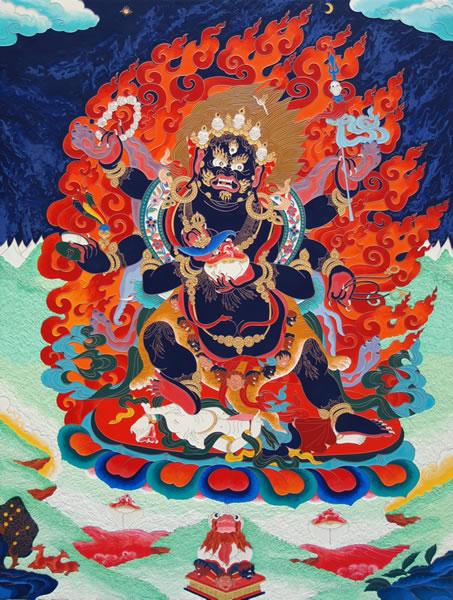 6 Armed Mahakala, Dhamra Protector of the Small Scope of the Lamrim gelug emanation chenrezig avalokitashvara supramundane protector large scope great scope, vajapani