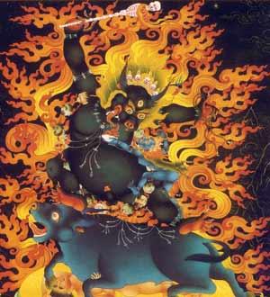 Kalarupa, Dhamra Protector of the Small Scope of the Lamrim gelug emanation manjushri supramundane protector vajrapani