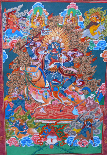 Palden Lhamo, a common dharma protector with the Gelug, supramundane protector