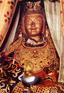 """Padmasambhava (Guru Rinpoche) is perhaps the most universally cherished realized being in all of Tibetan Buddhism. Padmasambhava came to Tibet from India in the 8th century and helped establish a pure lineage which is still practiced today by all four major schools of Tibetan Buddhism around the world."" - FPMT Padmasambhava Project for Peace"